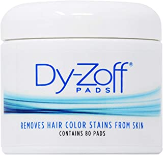 King Research DyZoff Pads Hair Color Rinse and Tint Stain Remover Jar 80 pads