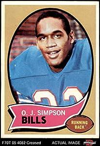1970 Topps # 90 O.J. Simpson Buffalo Bills (Football Card) Dean's Cards 3.5 - VG+ Bills