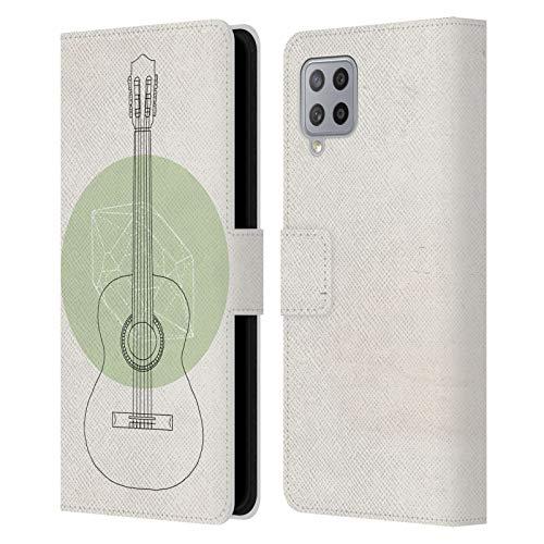 Head Case Designs Offiziell Zugelassen Florent Bodart Gitarre Musik Leder Brieftaschen Handyhülle Hülle Huelle und Passende Designer Hintergrundbilder kompatibel mit Samsung Galaxy A42 5G (2020)