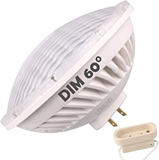 LeMeng Par56 LED Bulb Dimmable 28W Warm White Spot Light (2700-3000K) 60°Beam Angle MFL GX16D Base, Replace Par 56 300W Halogen Light