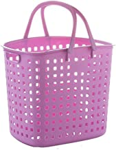 Storage Laundry Basket Baby Storage Laundry Bucket Large Portable Plastic Storage Sort Out Multiple Colour (Color : Purple)