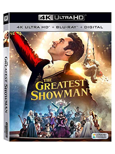 The Greatest Showman 4k UHD HDR+ Bluray + Digital Download Exclusive Limited Edition plus Sing-Along Region Free Available Now