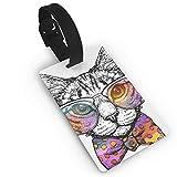Equipaje Accesorios Accesorios de Viaje Etiquetas para Equipaje Fish Rock Music Luggage Tag Travel ID Identifier Labels Set For Bags Baggage PVC Size 3.7 X 2.2 Inches