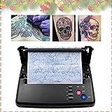 TOPQSC Tattoo Printer Machine de Transfert Tatouage Photocopieur Transfert Tatouage Imprimante Thermique Copier Papier Machine Tatouer +10pcs Papier de transfert thermique(N)