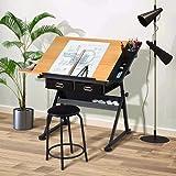 Dripex Mesa de Dibujo Profesional con Tablero Inclinable Altura Ajustable, Artista de Pintura Arquitecto Dibujo...