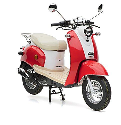 Motorroller Nova Motors Retro Star 50 rot-weiß - 45km/h