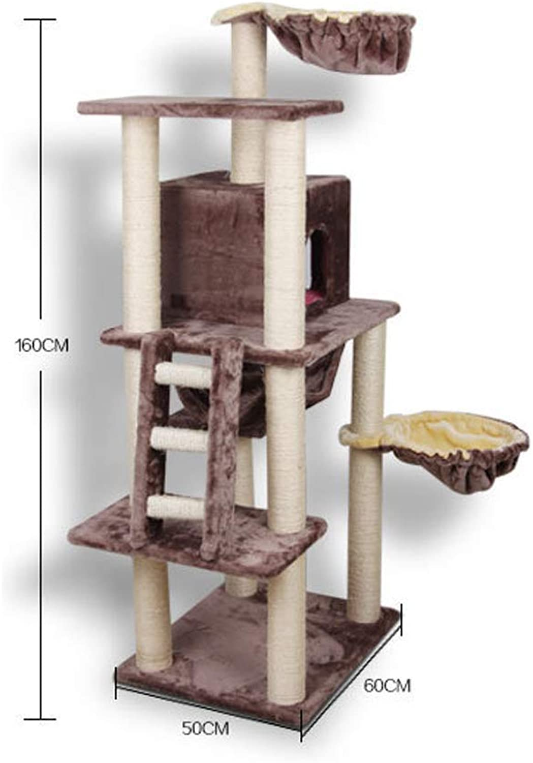 Axiba Play Towers Trees for Cats Large cat climbing frame cat nest cat Tree Cat Scratch plate cat grab column cat jumping cat toy 50cm 60cm  140cm