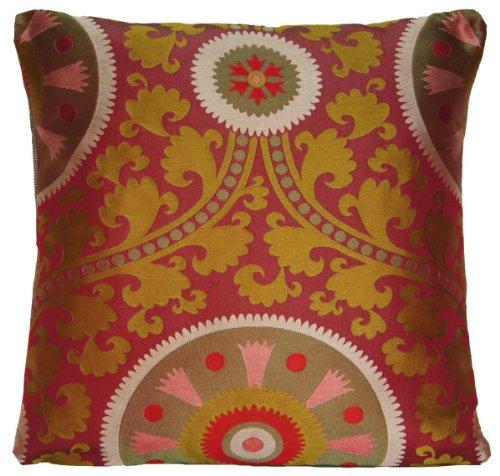 Rouge tradidional Housse de coussin design tissé soie Couvre-lit décoratif taie d'oreiller Télécommande portail FADINI Borghi Soliman