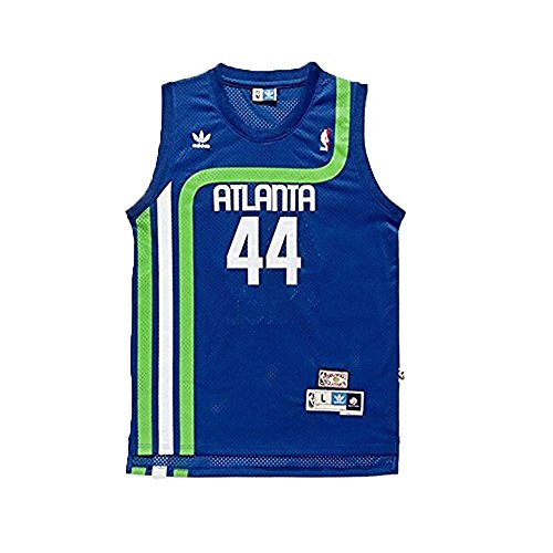 adidas Pete Maravich #44 Atlanta Hawks Hardwood Classics Youth Jersey (Medium) Blue