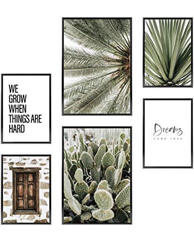 Heimlich® Premium Poster Set | Stilvolles Set mit passenden Bilder als Wohnzimmer Deko | 2 x DIN A3 & 4 x DIN A4 - ca. 30x42 & 21x30 | ohne Bilderrahmen » Dreams Come True «