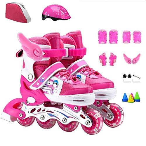 Unbekannt Inlineskates Kinder verstellbare Rollschuhe Kinder Roller für Anfänger Kleinkinder Kinder Eislaufschuhe Geburtstag, B, L(EU 23-EU 25)