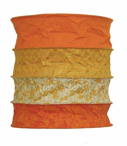 Lokta - Lampenschirm Bari orange aus handgeschöpftem, weichem Papier