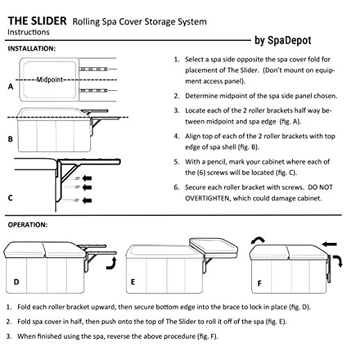 The Slider Spa Cover No-Lift Remover
