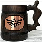 zelda coffee cup - Legend Of Zelda Mug. Zelda Wooden Mug Gift. Zelda Stein. Zelda Ornament Triforce Gamer Mug. Beer Steins. Wooden Beer Tankard. Gifts for Gamer K100