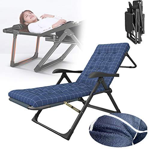 HXMSXROMIDA Folding Gartenstühle Schwerelosigkeit mit herausnehmbaren Kissen 180 * 67 * 42cm Beach Chair Low Folding Leichtes Reclining,Lila