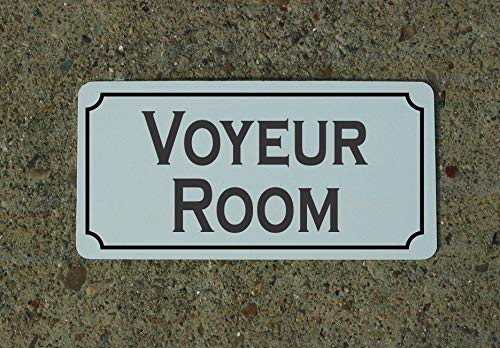 Voyeur Room Metal Sign for Goth Wicken Witch Phsyic Magic Kitchen Decor S&M Vintage Aluminum Metal Signs Tin Plaque Wall Art Poster for Garage Man Cave Home Decoration 12