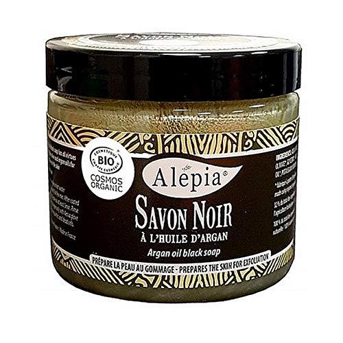 Premium biologische zwarte zeep met arganolie