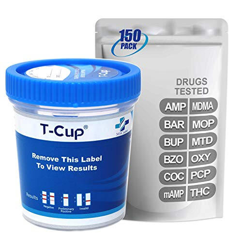 Best Deals! MiCare [150pk] - 12-Panel Multi Drug Test Cup (AMP/BAR/BUP/BZO/COC/mAMP/MDMA/MOP/MTD/OXY...