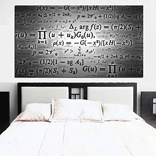 N / A Science Formula Mathematics Pittura Digitale su Tela Pittura murale Immagine per Soggiorno Senza Cornice A 60x100CM