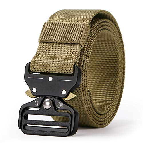 Tactical Belt, Military Style Webbing Riggers Nylon...
