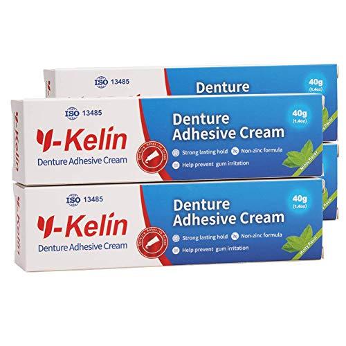 puissant Crème adhésive pour prothèses Y-Kerin 40g (4 paquets)