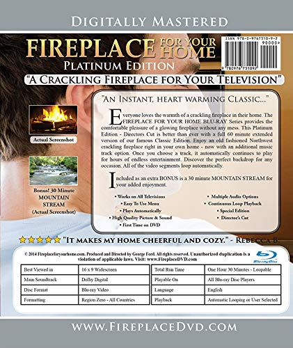 Fireplace For Your Home Extended Platinum Edition Volume #11 Blu-ray