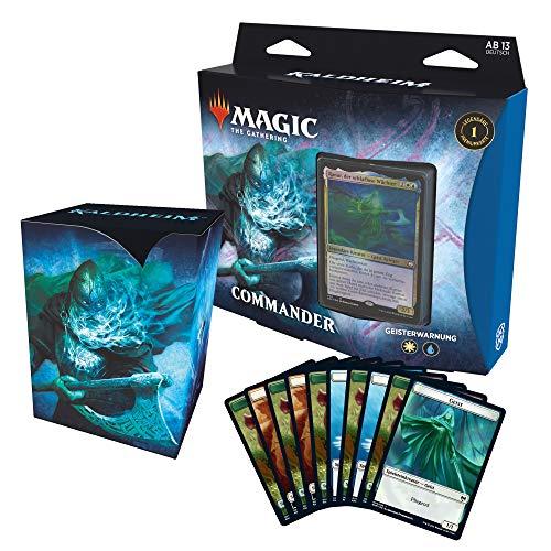 Magic: The Gathering C78081000 The Gathering Kaldheim-Commander Geisterwarnung (100 Karten Ready-to-Play Deck), Blau-Weiß