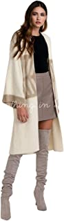Color Ivory Graphic Angora Look Cardigan Coat Sweater One Size