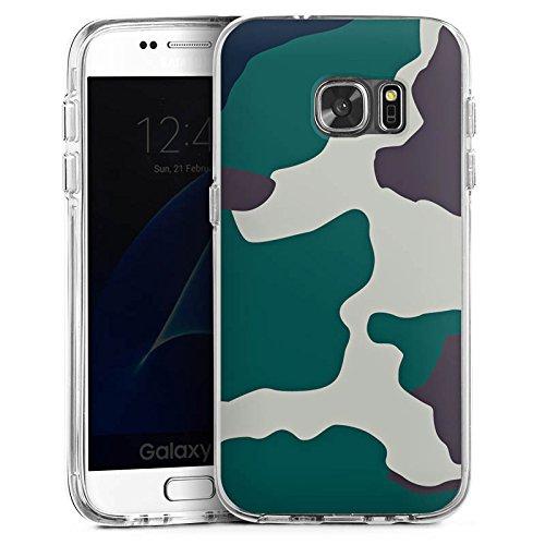 DeinDesign Samsung Galaxy S7 Bumper Hülle Bumper Case Schutzhülle Camouflage Bundeswehr Tarn Muster