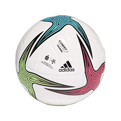adidas EKSTRAKLASA TRN Balón, Hombres, Blanco/Negro/ROSSHO/VERSEN (Multicolor), 3
