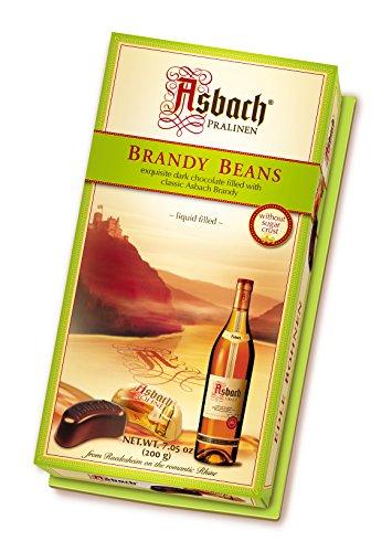 RCP Asbach Edle Bohnen, Zartbitter-Schokolade, Alkoholhaltig, Tolles Geschenk, 200 g