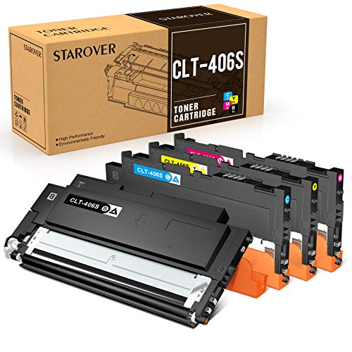 STAROVER 4x Kompatibel Tonerkartuschen für CLT-406S CLT-K406S Toner für Samsung CLX-3300 CLX-3305 CLX-3305W CLX-3305N CLX-3305FW CLX-3305FN CLP-360 CLP-365 CLP-365W Xpress C410W C460FW C460W