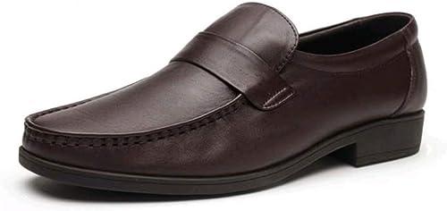 zapatos De hombres De Negocios De Cuero Casual Moda Usable Antideslizante
