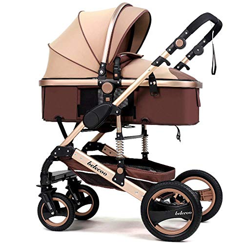 Find Discount XXDMZ Infant Baby Stroller for Newborn and Toddler -Convertible Bassinet Stroller Comp...