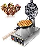 Z ZELUS Macchina per Waffle Elettrica con Rivestimento Antiaderente Piastra Waffle Elettrica Uovo Cialde Acciaio Inossidabile Ruotabile di 180 Gradi Bubble Waffle Maker per Uso Domestico