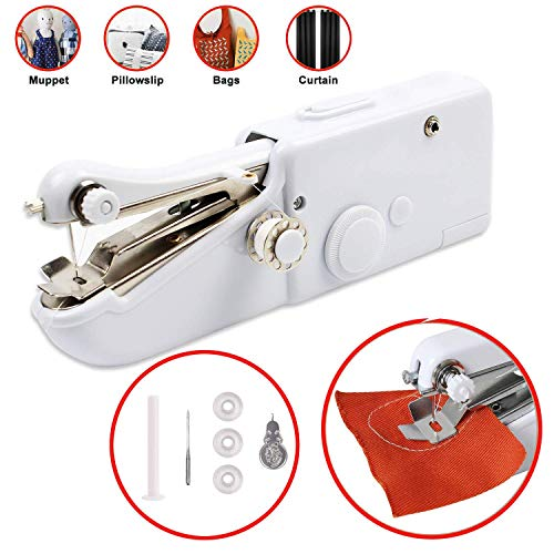 Handheld Sewing Machine Portable Stitching Machine FineWish Cordless Sewing Machine Mini Stitch...