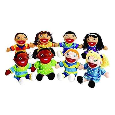 Excellerations Girl & Boy Puppet Pairs - Set of All 8 (Item # KIDPUPS) from Discount School Supply