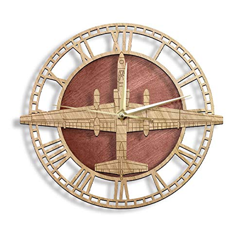 Reloj de Pared de piloto Militar de Dragon Lady, avión de reconocimiento, Reloj de Pared silencioso sin tictac, Relojes de Arte de aviación de avión