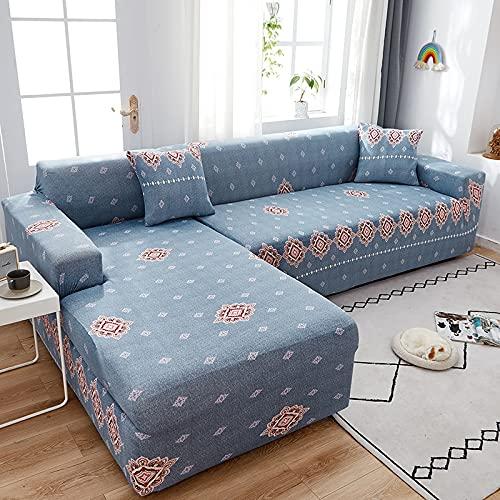 Funda de sofá para sofá de Todos los tamaños Funda de sofá elástica Universal para Sala de Estar Protector de Cubierta Decorativa A11 4 plazas