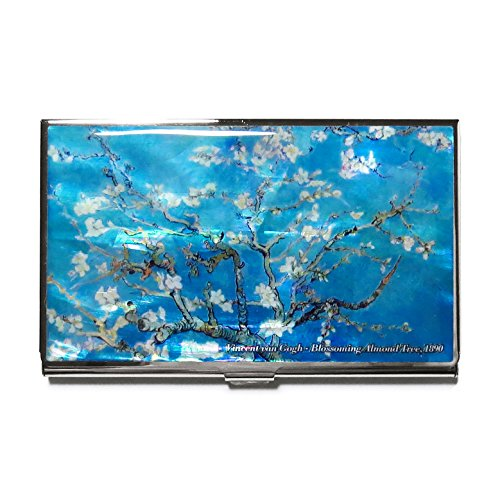 MADDesign Mother of Pearl Van Gogh Almond Blossom Business Card Case Id Holder Wallet