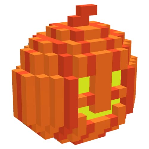 Halloween 3D Color By Number - Pixel Art, Voxel Coloring Book
