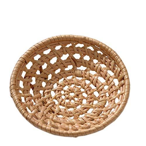 Cuenco Para Masas Cesta De Mimbre De Bambú Para Pan, Bandeja Tejida A Mano, Bandeja Para Servir Comida Para Cenas, Café, Desayuno, Fruta