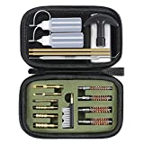 GLORYFIRE Gun Cleaning Kit Handgun Cleaning Kit Pistol Cleaning Kit .22.357/9mm.40.45 Caliber Brass Jags Tips and 2 Empty Bottles for Hunting Shooting