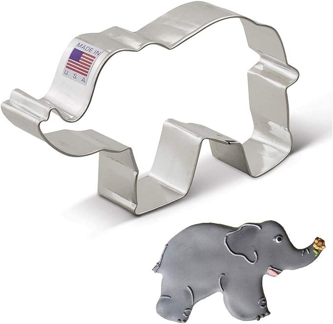 213 opinioni per Ann Clark Cookie Cutters a forma di elefante- 12,7 cm- Acciaio prodotto negli