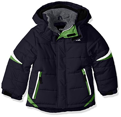 LONDON FOG Boys' Big Active Puffer Jacket Winter Coat, Super Navy, 14/16