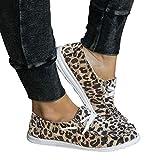 UMore Mujer Mocasines de Lona Moda Loafers Casual Zapatos de Conducción...
