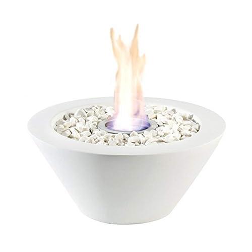 Cheminée de table - Alimentée par du bio-éthanol ou du gel combustible - Décoration de table