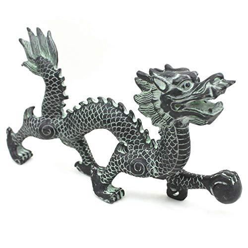 Asiatische Drachen Figur (26cm) Chinesisches Krafttier Tierkreiszeichen Zink - AsienLifeStyle