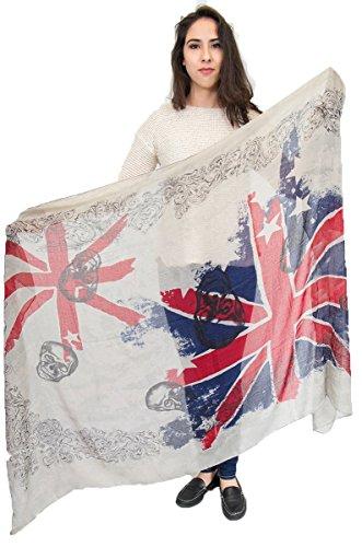 Cachecol com bandeira americana, poncho, envoltório., Yx63, One Size