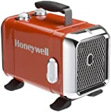 Honeywell Heavy Duty Fan Heater Heavy Duty Fan Heater Red Ceramic 1500W 2 Heat Settings 3 Year Warranty(HZ-510E)